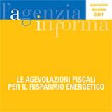 agevolazioni per il risparmio energetico: il vademecum dell'agenzia dell'entrate
